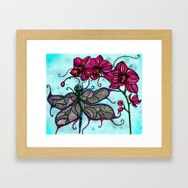 Dragonfly Ball Framed Art Print