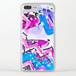 Surfs Up Watercolor Clear iPhone Case
