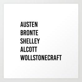 WOMEN OF CLASSICS (WHITE) Art Print