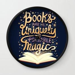 Books are magic Wall Clock