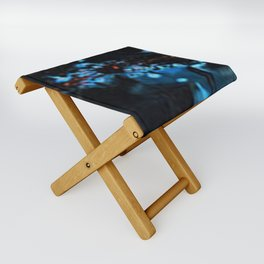 Abstract Black Blue Outer Space Galaxy Cosmos Jodilynpaintings Painting Folding Stool
