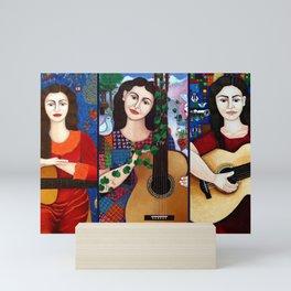 Violeta Parra collage Mini Art Print