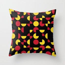 Mid Century Geometric Pattern II Throw Pillow