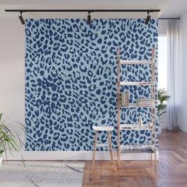 Pastel Blue Leopard Print Wall Mural