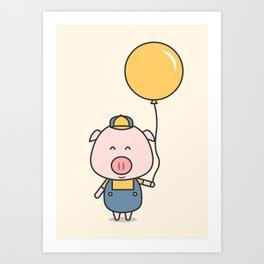 Little Piggy Art Print