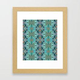 Turquoise marble Framed Art Print