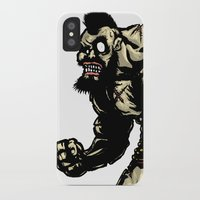 street fighter iPhone & iPod Cases featuring Bear Wrestler - Street Fighter by Peter Forsman