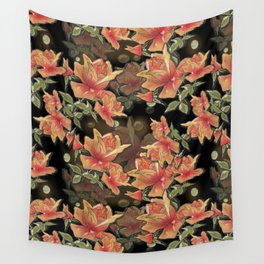 Yellow roses . Imitation glass .3D/ Wall Tapestry