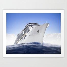 Cruise Ship Art Print