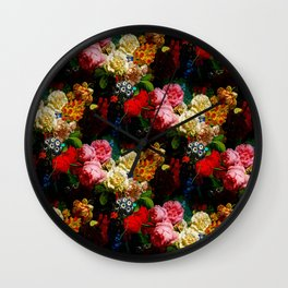 baroque flora Wall Clock