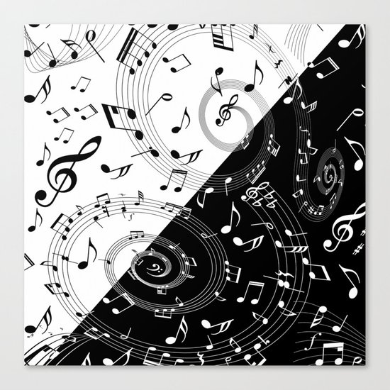 i love music Canvas Print