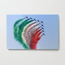 Painting the sky with airplanes Metal Print