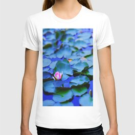 Water lilies in a pond T-shirt