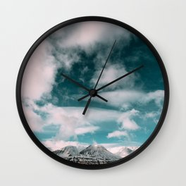 Iceland Mountains Wall Clock