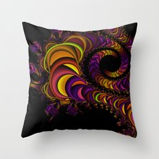 colors snake Throw Pillow