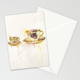 Watercolour Vintage Teacups – Big and Little Stationery Cards