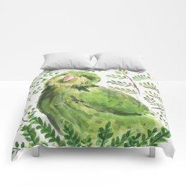 Kakapo in the ferns Comforters