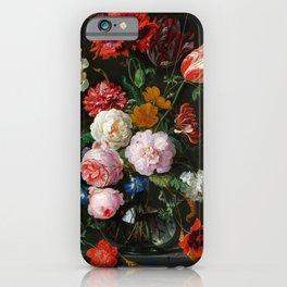 "Jan Davidsz. de Heem ""Still Life with Flowers in a Glass Vase"" iPhone Case"