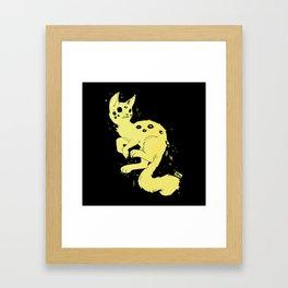 Cute Kawaii Spider Cat, Gothic Creepy Cute Art Framed Art Print