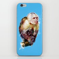 monkey iPhone & iPod Skins featuring Monkey by beart24