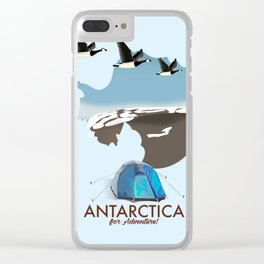 Antarctica - For Adventure! Clear iPhone Case