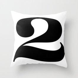 Two (Black) Throw Pillow