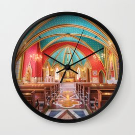 interior of the cathedral Wall Clock