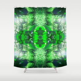 Diamond Orbs of Emerald Shower Curtain