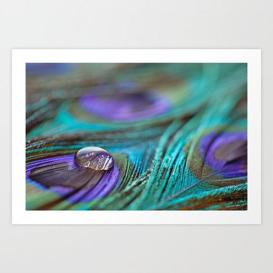 Jewel on Feathers Art Print