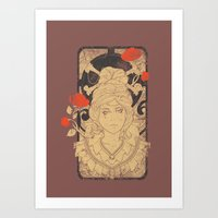 art nouveau Art Prints featuring Art Nouveau by Tshirt-Factory
