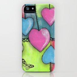 Soaring Hearts by Deborah Halcomb aka Daytona Damsel iPhone Case