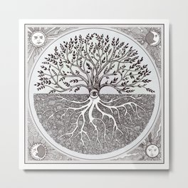 Tree of Life as above so below Metal Print
