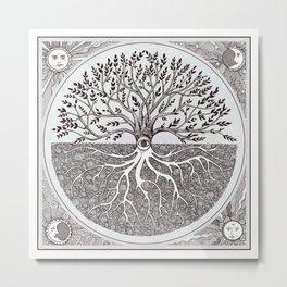 Tree of Life as above so below Metal Print
