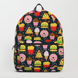 Fit Fast Food (Navy) Backpack