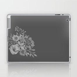 Grey Floral Design Laptop & iPad Skin