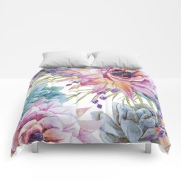 FLOWERS WATERCOLOR 19 Comforters
