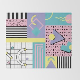 Memphis Pattern 27 - 80s - 90s Retro / 1st year anniversary design Throw Blanket