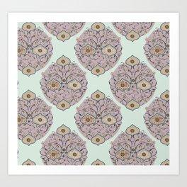 Victorian floral Art Print