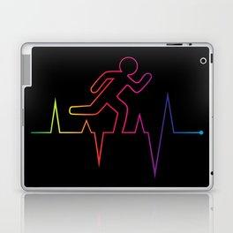 Heartbeat Runnin' Away Laptop & iPad Skin
