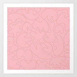 Blob Collage - Pink Art Print