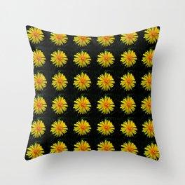 Orange Dandelion 2 -diente de leon Throw Pillow