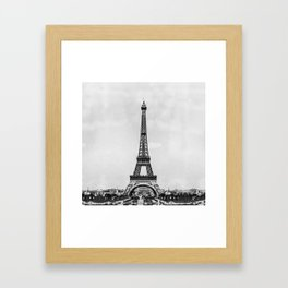 Eiffel tower in B&W with painterly effect Framed Art Print