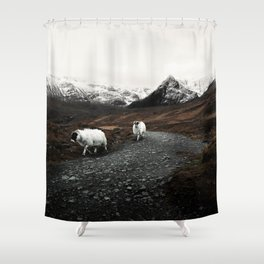 The Two Mountaineers Shower Curtain
