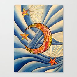 Moon & Stars Canvas Print
