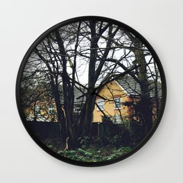 Houses in the forest Wall Clock