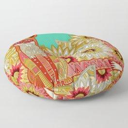 garden fox Floor Pillow