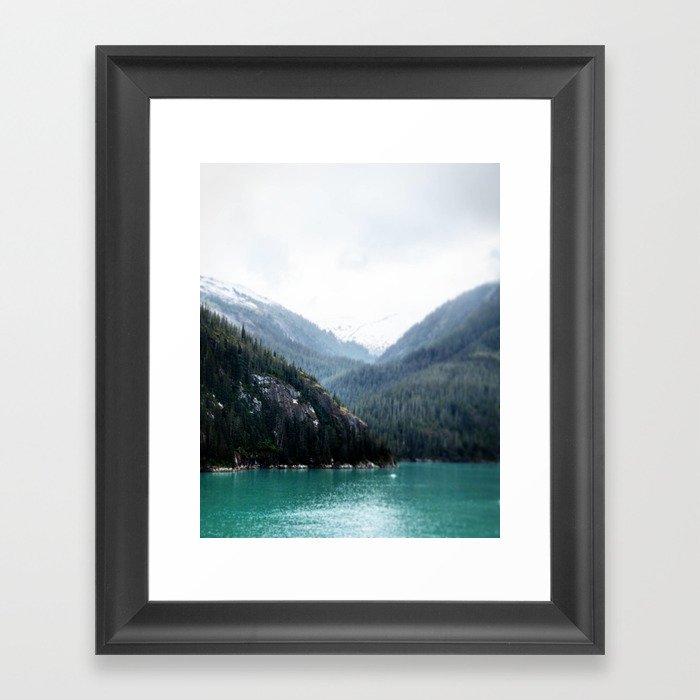 Blue Layers Framed Art Print