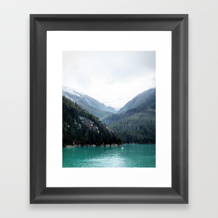 Blue Layers Framed Art Print