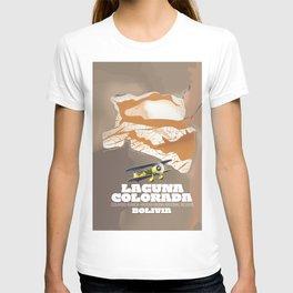 Laguna Colorada Bolivia beautiful salt lake travel poster. T-shirt