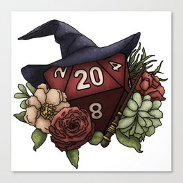 Wizard Class D20 - Tabletop Gaming Dice Canvas Print